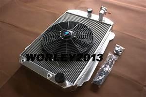 Aluminum Radiator   Fan For Chevy Hot  Street Rod 350 5 7