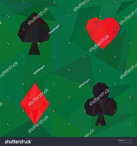 seamless  poly pattern card suits stock vector