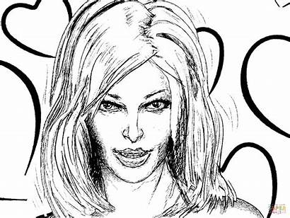 Coloring Pages Woman Portrait Wonder Printable Drawing
