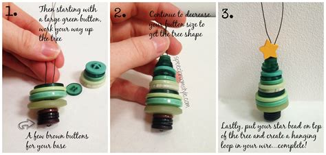how to make a tree ornament easy christmas crafts 8 button ornaments speech room style