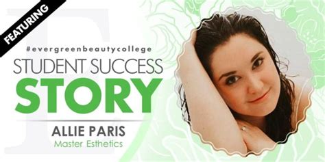 master esthetics student success story allie paris