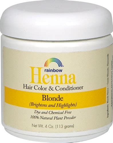 rainbow research henna hair color  conditioner blonde