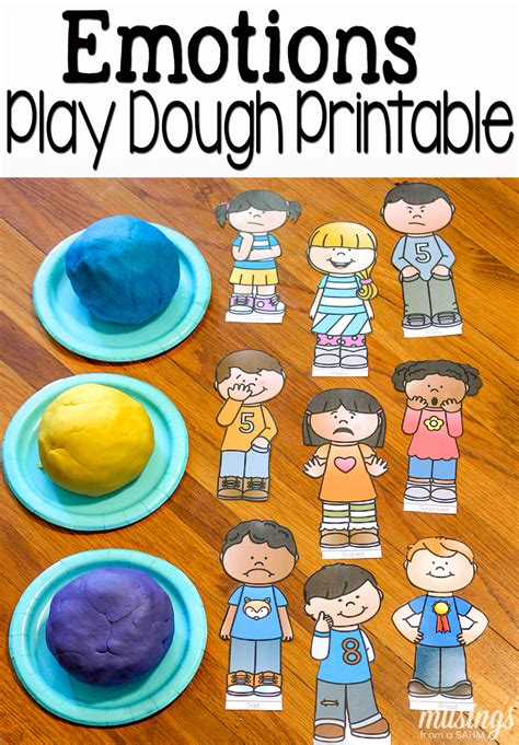 playdough with emotions free printables 764 | emotions play dough fun pin