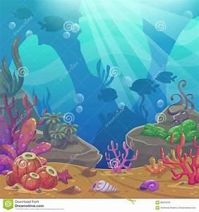 Cartoon Underwater Vector Illustration. Stock Vector ...