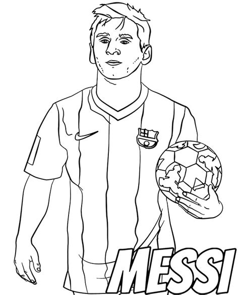 Kleurplaat Messi Ronaldo by Free Messi Coloring Page Fc Barcelona Player Footballer