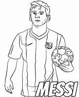 Messi Coloring Football Player Soccer Lionel Kleurplaat Barcelona Voetballer Ronaldo Sheet Pintar Footballer Colorir Coloriage Printable Colorear Dibujos Desenho Jogadores sketch template