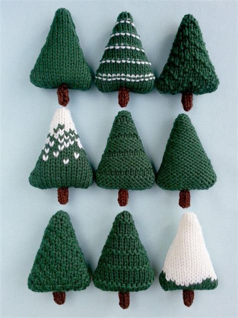 christmas trees knitting pattern knitting patterns