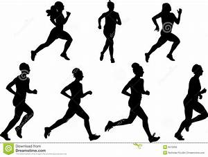 16 Running Woman Vector Silhouettes Images - Running Woman ...