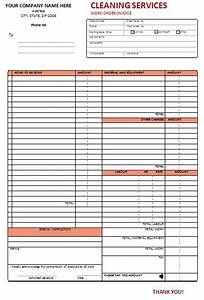Janitorial Contracts Templates Cleaning Invoice Template Word Free Cleaning Invoice
