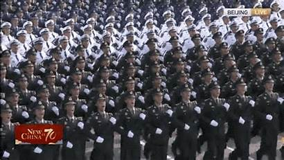 Parade China Force Pla Support National Formations