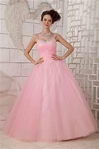 robe de mariee rose pale avec bretelles ornees de sequins With robe de mariée rose pale