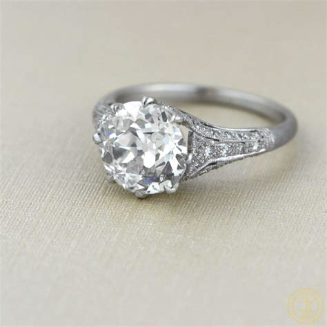 cushion cut rings more vintage treasures