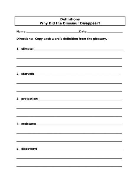 15 best images of word definition worksheets 2nd grade