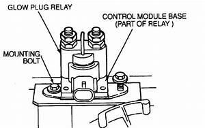 Where Is The Glow Plug Relay Located On 95 E350 W  7 3