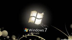 Windows 7 Ultimate Bright Black 4K HD Desktop Wallpaper ...