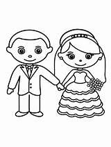 Groom Bride Coloring Printable Gaddynippercrayons Partner sketch template