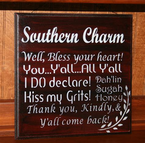 southern sayings southern charm southern phrases wooden