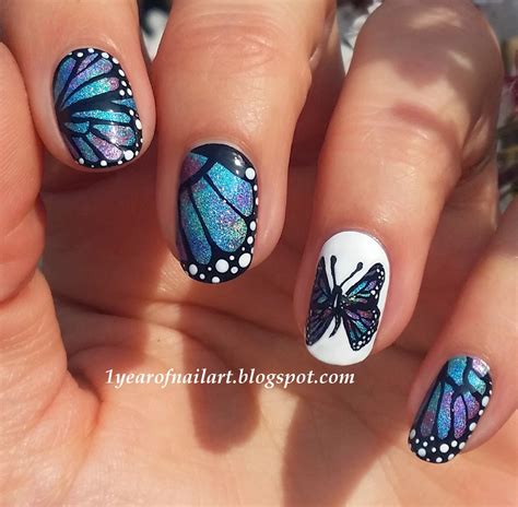 butterfly nail designs 365 days of nail march 2014