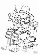 Garfield Coloriage Coloring Colorir Colorear Desenhos Dibujos Churrasco Grill Desenho Ausmalbilder Disegni Pintar Dibujo Imprimir Kolorowanki Pobarvanke Dessin Fazendo Parrilla sketch template