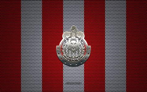 Скачать обои Guadalajara Chivas logo, Mexican football ...