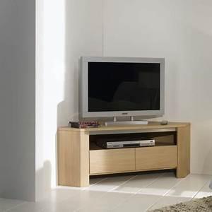 Meuble D Angle Pour Tv : meuble tv d 39 angle en ch ne massif ~ Teatrodelosmanantiales.com Idées de Décoration