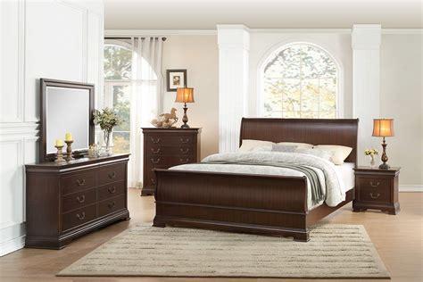 Homelegance Bedroom Set by Homelegance Clematis Sleigh Bedroom Set Cherry 1719 Bed