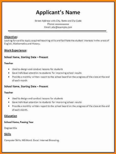 Free Format Of Resume In Ms Word by 10 Best Resume Format In Word Free Ledger Paper