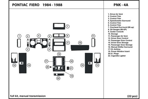 Pontiac Fiero Engine Diagram Auto Wiring
