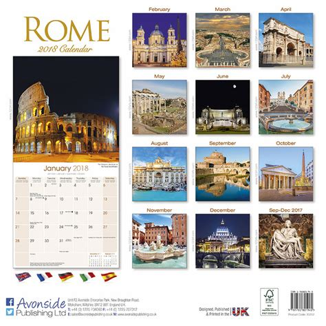 rome calendars ukposterseuroposters