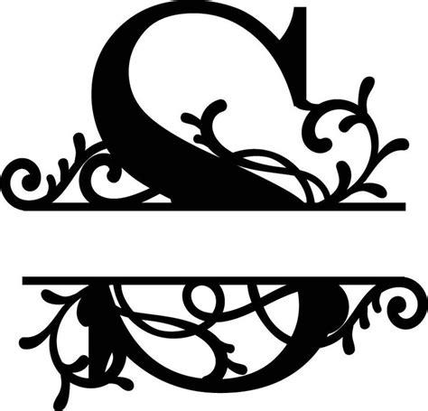 split monogram letter  dxf file   monogram letters monogram lettering