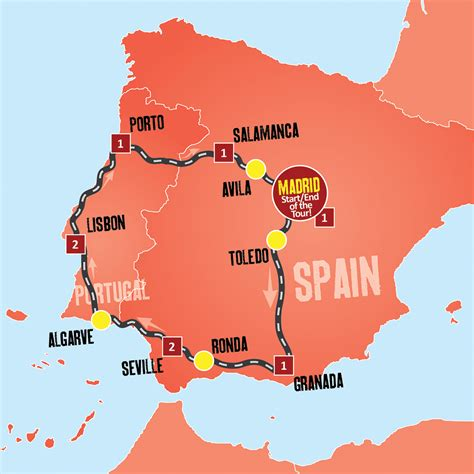 Carte Portugal Espagne by Spain And Portugal Tour Coach Tours From Madrid Expat