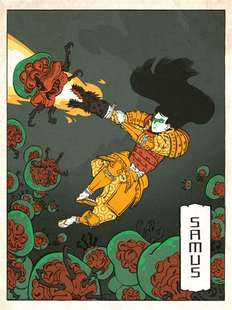 Classic Video Game Characters As Japanese Woodblock Art