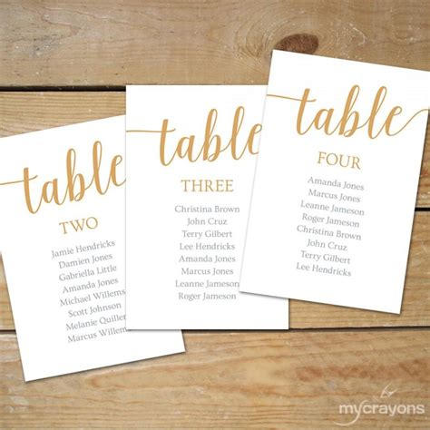 caramel gold seating chart template instant