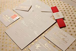 Elegant winter wedding nico and lala for Foil blocked wedding invitations