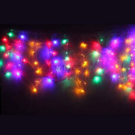 multi color icicle lights multi color 120 led icicle lights wedding indoor