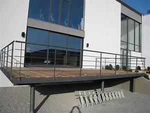 Terrasse Metallique Suspendue : terrasse sur pilotis recherche google terrasse teck balcony balcony design et terrace ~ Dallasstarsshop.com Idées de Décoration