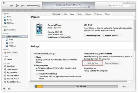 how to back up iphone to itunes 4 methods to backup iphone contacts with without itunes