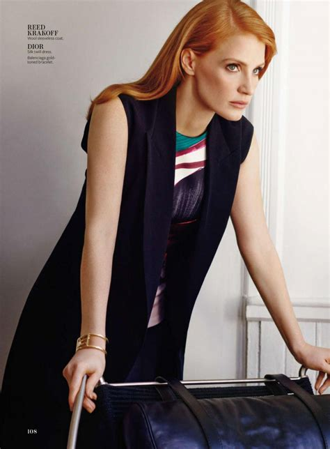 jessica chastain instyle magazine january  issue