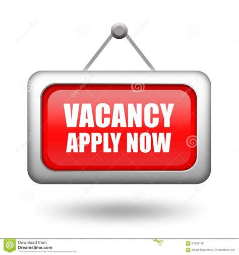 job vacancy signboard stock illustration illustration