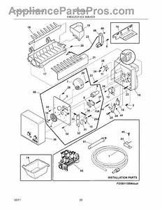 Parts For Frigidaire Lghb2869lf4  Freezer Ice Maker Parts