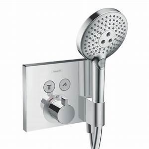 Hansgrohe Unterputz Thermostat : hansgrohe showerselect thermostat unterputz f r 2 verbraucher mit fixfit und portereinheit ~ Watch28wear.com Haus und Dekorationen