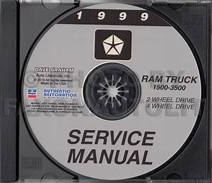 1999 Dodge Ram Truck Shop Manual Cd 1500 2500 3500 Gas