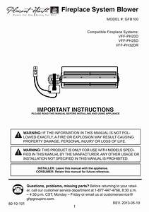 Pleasant Hearth Gfb100 Instructions    Assembly