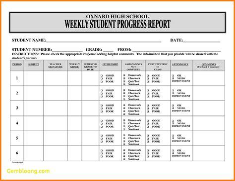Progress Report Template 6 Students Progress Report Template Officeaz