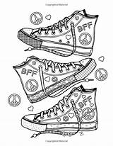 Coloring Pages Girly Stuff Adult Sheets Adults Printable Easy Shoes Books Dani Totally Colouring Emoji Awesome раскраски Pattern Printables Quote sketch template