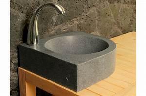 Lave Main Angle : lave mains en pierre d 39 angle samoa 34x34cm granit v ritable ~ Melissatoandfro.com Idées de Décoration