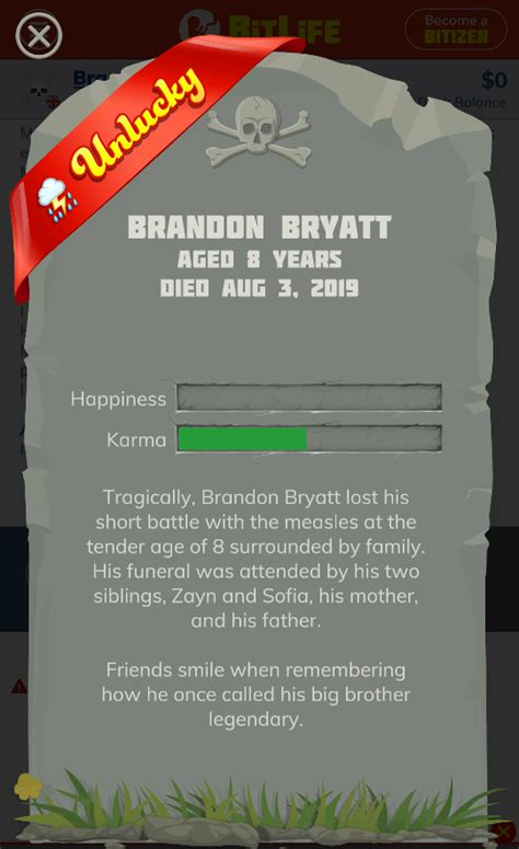 bitlife simulator death