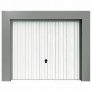 porte de garage basculante a rainures verticales porte With porte de garage hauteur 220