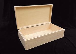 Unfinished Wood Box w/ Hinges-13 3/4 x 7 1/4 x 4-unfinished