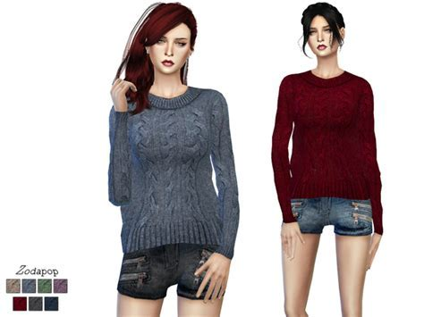 Sims 4 Wool Cable Knit Sweater